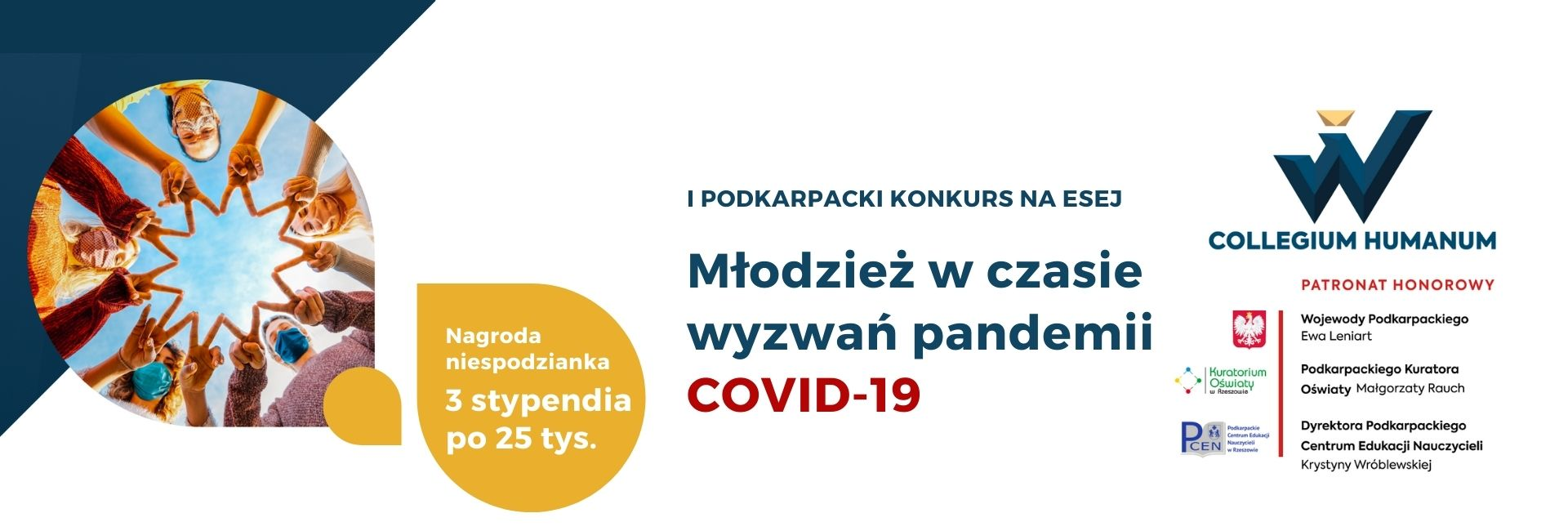 I podkarpacki konkurs na esej Młodzież w czasie wyzwań pandemii covid-19